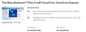 Plus Credit Card from American Express